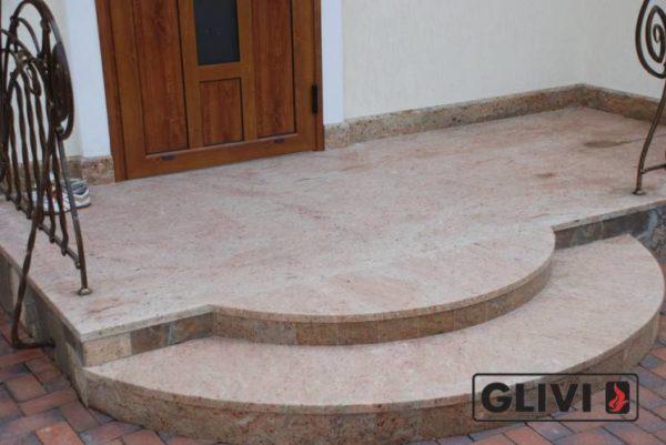 Лестничные ступени из натурального камня (мрамора) Зара, фото 1