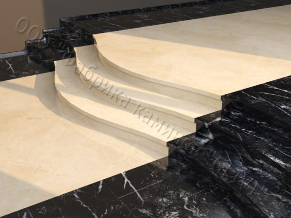 Лестничные ступени из натурального камня (мрамора) Сальма, фото 1