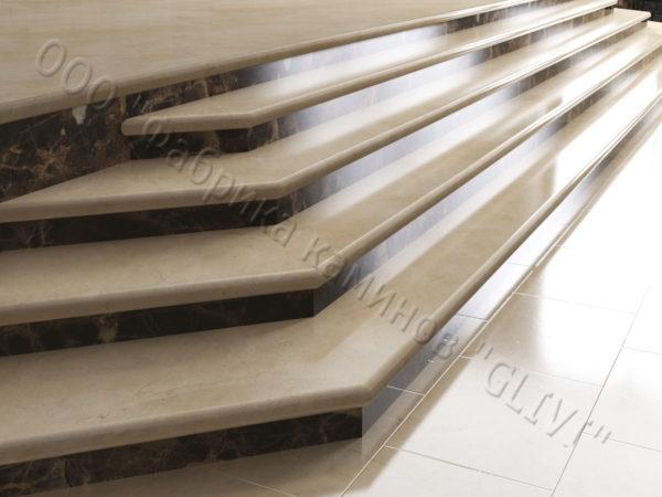 Лестничные ступени из натурального камня (мрамора) Изра, фото 1