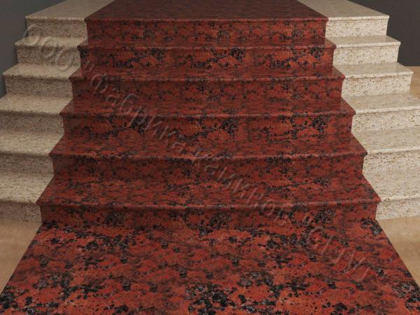 Лестничные ступени из натурального камня (гранита) Фалин, фото 1
