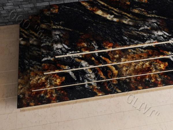 Лестничные ступени из натурального камня (гранита) Хильдэ, фото 1