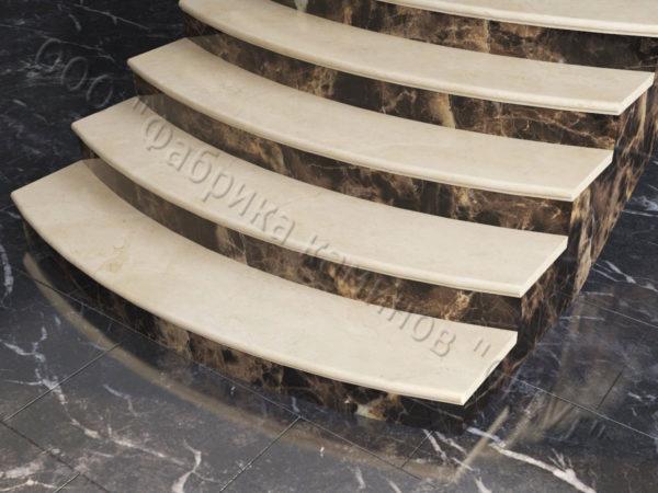 Лестничные ступени из натурального камня (мрамора) Адара, фото 1