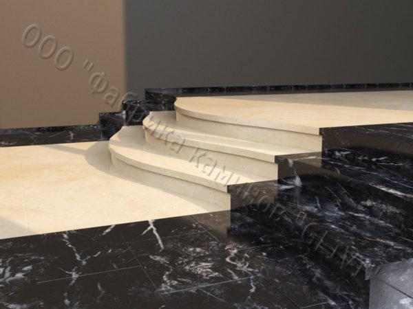 Лестничные ступени из натурального камня (мрамора) Сальма, фото 2