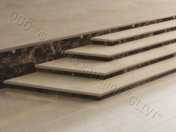 Лестничные ступени из натурального камня (мрамора) Изра, фото 2