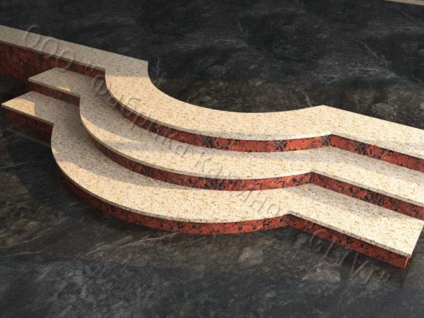 Лестничные ступени из натурального камня (гранита) Аксий, фото 2