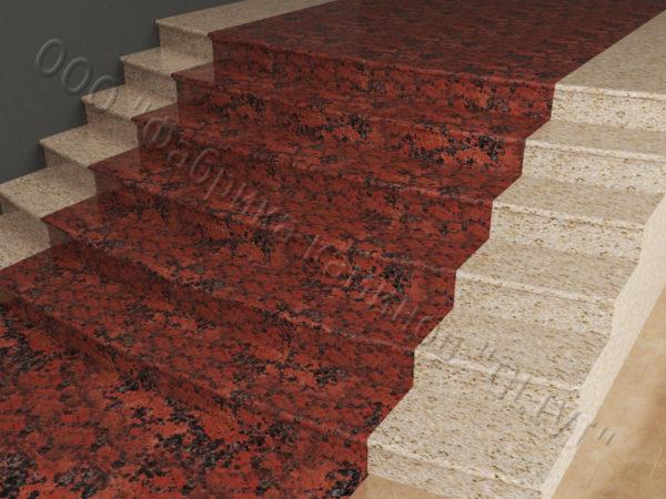 Лестничные ступени из натурального камня (гранита) Фалин, фото 2