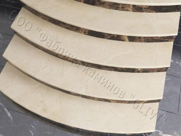 Лестничные ступени из натурального камня (мрамора) Адара, фото 2