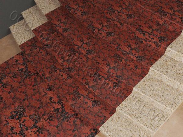Лестничные ступени из натурального камня (гранита) Фалин, фото 3