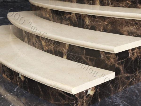 Лестничные ступени из натурального камня (мрамора) Адара, фото 3