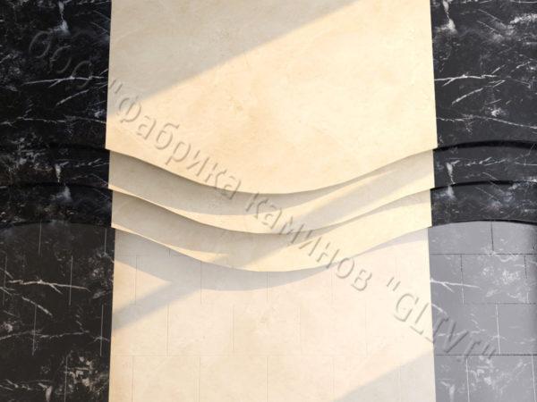 Лестничные ступени из натурального камня (мрамора) Сальма, фото 3