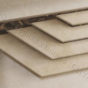 Лестничные ступени из натурального камня (мрамора) Изра, фото 3