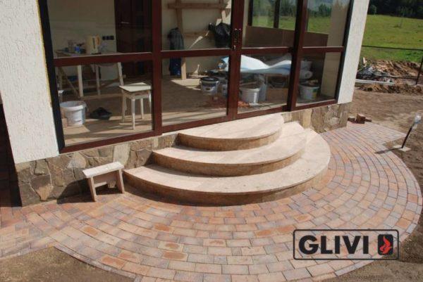 Лестничные ступени из натурального камня (мрамора) Зара, фото 4