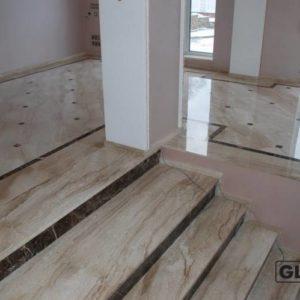 Лестничные ступени из натурального камня (мрамора) Хлоя, фото 2