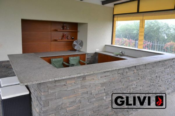 Барная стойка для бара из натурального камня (гранита) Адара, изображение, фото 1