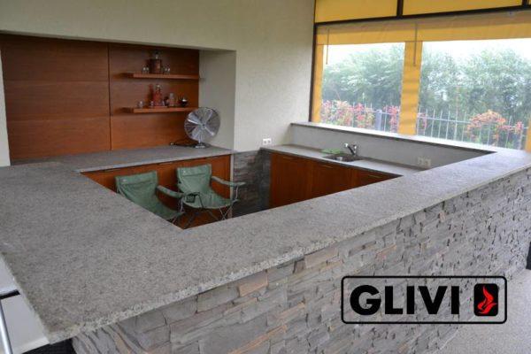 Барная стойка для бара из натурального камня (гранита) Адара, изображение, фото 2