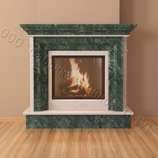 Мраморный каминный портал (облицовка) Адель, каталог (интернет-магазин) каминов из мрамора, изображение, фото 2