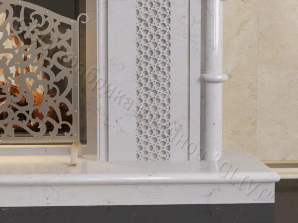 Мраморный каминный портал (облицовка) в восточном (арабском) стиле Афанди, каталог (интернет-магазин) каминов из мрамора, изображение, фото 4