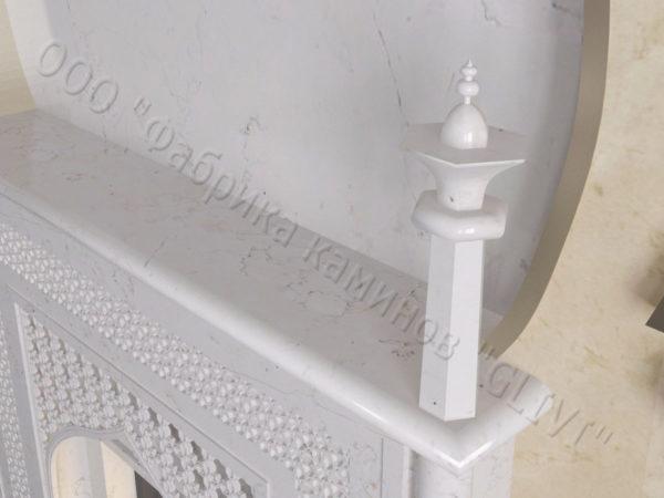 Мраморный каминный портал (облицовка) в восточном (арабском) стиле Афанди, каталог (интернет-магазин) каминов из мрамора, изображение, фото 5