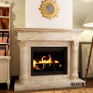 Мраморный каминный портал (облицовка) Афродита, каталог (интернет-магазин) каминов из мрамора, изображение, фото 1