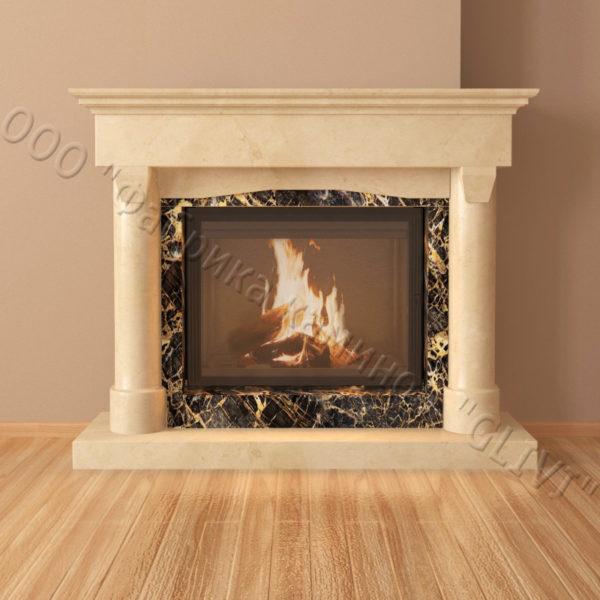 Мраморный каминный портал (облицовка) Афродита, каталог (интернет-магазин) каминов из мрамора, изображение, фото 2