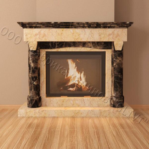 Мраморный каминный портал (облицовка) Афродита, каталог (интернет-магазин) каминов из мрамора, изображение, фото 3