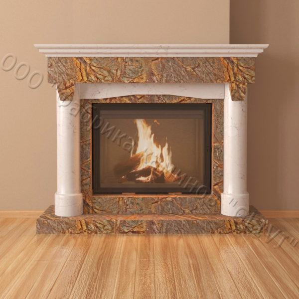 Мраморный каминный портал (облицовка) Афродита, каталог (интернет-магазин) каминов из мрамора, изображение, фото 4