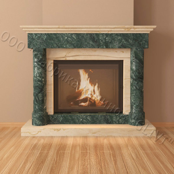 Мраморный каминный портал (облицовка) Афродита, каталог (интернет-магазин) каминов из мрамора, изображение, фото 6