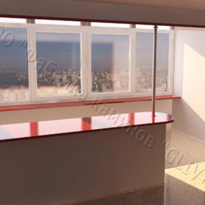 Барная стойка для бара и балкона из натурального камня Агния, изображение, фото 1