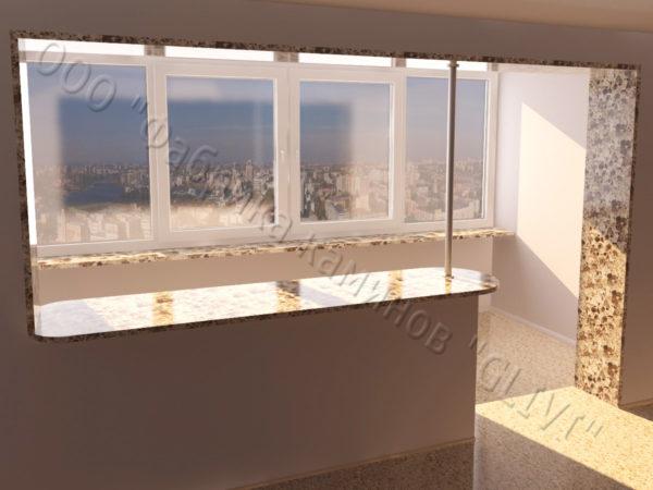 Барная стойка для бара и балкона из натурального камня Агния, изображение, фото 2