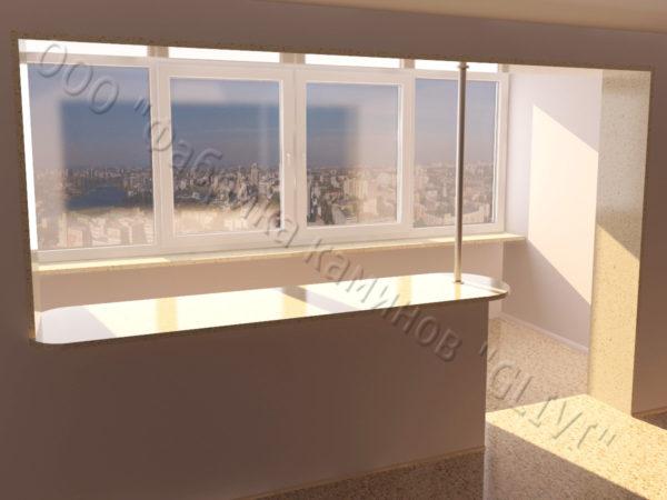 Барная стойка для бара и балкона из натурального камня Агния, изображение, фото 3