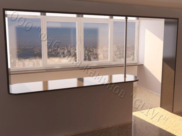 Барная стойка для бара и балкона из натурального камня Агния, изображение, фото 4