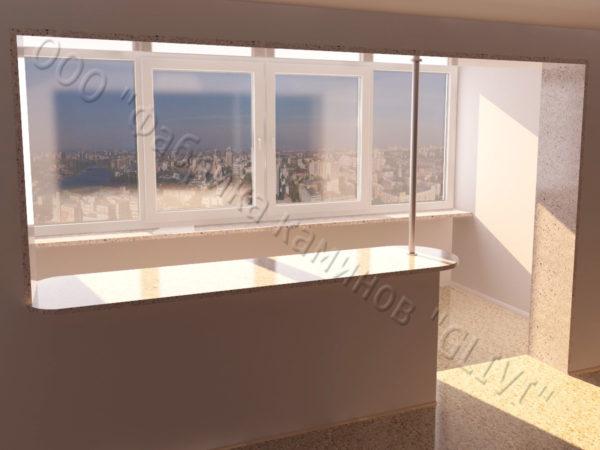 Барная стойка для бара и балкона из натурального камня Агния, изображение, фото 5