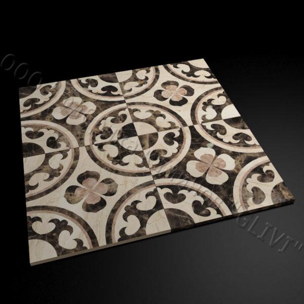 Плитка из натурального мрамора Ажра, изображение, фото 2