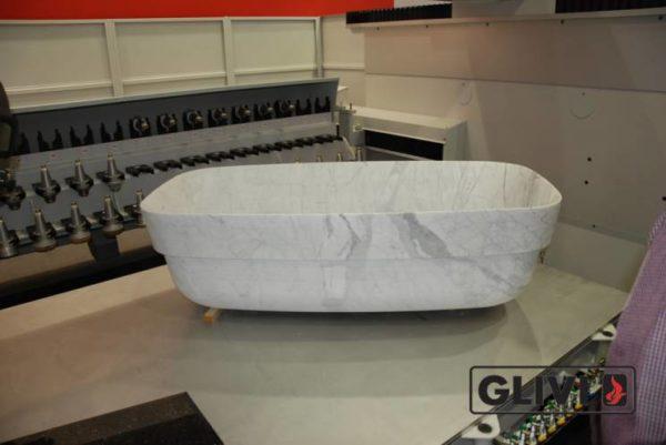 Ванная (пристанная или отдельностоящая) из натурального мрамора Алита, изображение, фото 3