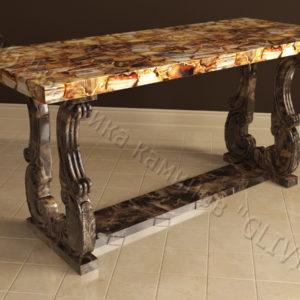 Стол из натурального камня (мрамора) Алта, интернет-магазин столов, изображение, фото 1