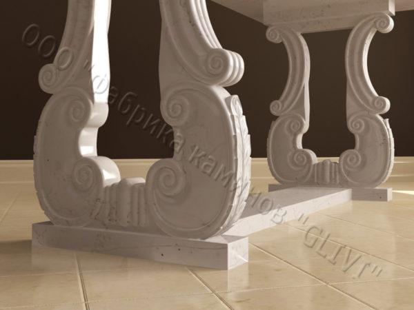 Стол из натурального камня (мрамора) Алта, интернет-магазин столов, изображение, фото 2