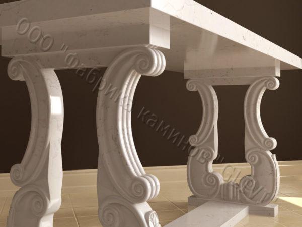 Стол из натурального камня (мрамора) Алта, интернет-магазин столов, изображение, фото 3