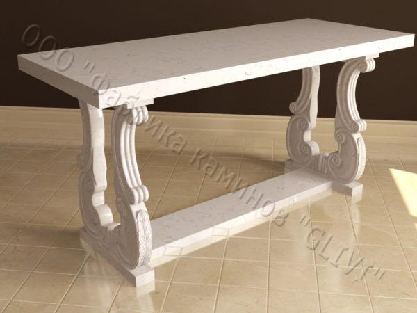 Стол из натурального камня (мрамора) Алта, интернет-магазин столов, изображение, фото 4