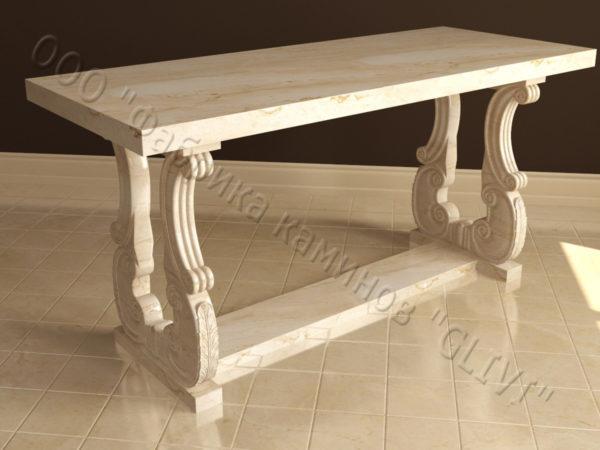 Стол из натурального камня (мрамора) Алта, интернет-магазин столов, изображение, фото 5