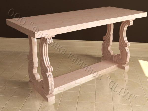 Стол из натурального камня (мрамора) Алта, интернет-магазин столов, изображение, фото 6