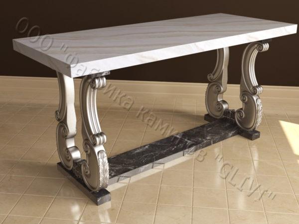 Стол из натурального камня (мрамора) Алта, интернет-магазин столов, изображение, фото 7