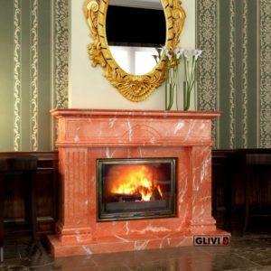 Мраморный каминный портал (облицовка) Андалузия, каталог (интернет-магазин) каминов из мрамора, изображение, фото 1
