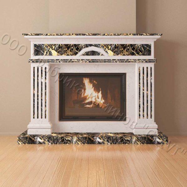 Мраморный каминный портал (облицовка) Андалузия, каталог (интернет-магазин) каминов из мрамора, изображение, фото 2