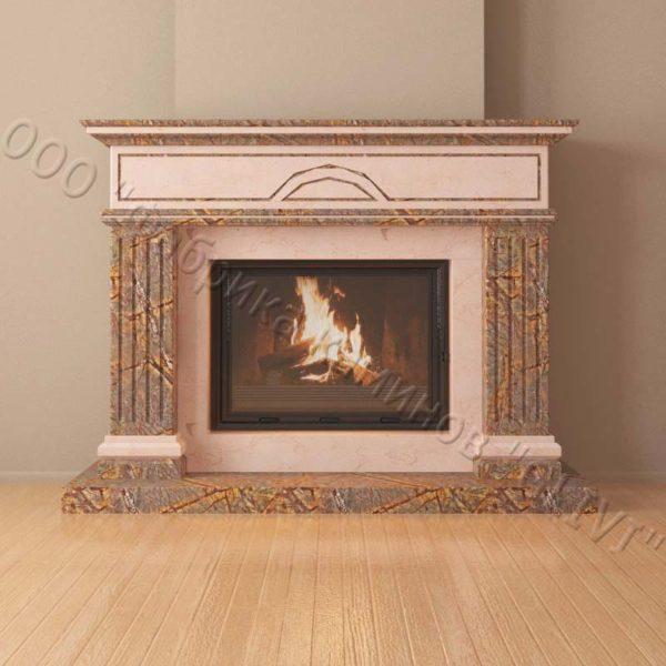 Мраморный каминный портал (облицовка) Андалузия, каталог (интернет-магазин) каминов из мрамора, изображение, фото 4