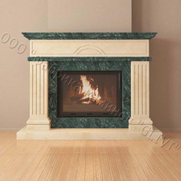 Мраморный каминный портал (облицовка) Андалузия, каталог (интернет-магазин) каминов из мрамора, изображение, фото 6