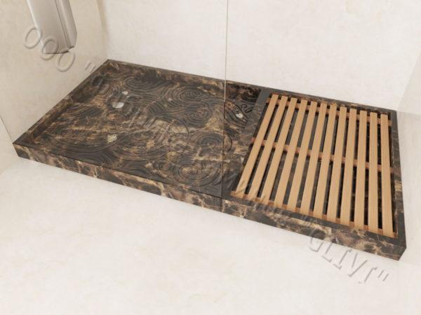 Поддон для душа Анис мраморный, каталог душевых поддонов из камня, изображение, фото 1