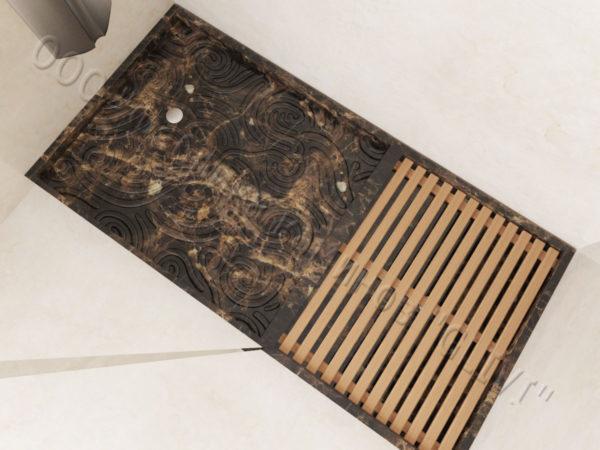 Поддон для душа Анис мраморный, каталог душевых поддонов из камня, изображение, фото 2
