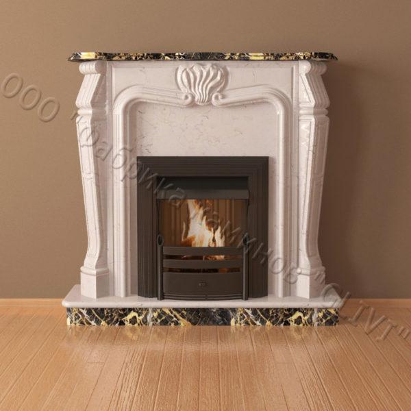 Мраморный каминный портал (облицовка) Анжело, каталог (интернет-магазин) каминов из мрамора, изображение, фото 2