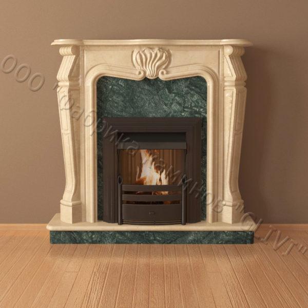 Мраморный каминный портал (облицовка) Анжело, каталог (интернет-магазин) каминов из мрамора, изображение, фото 6