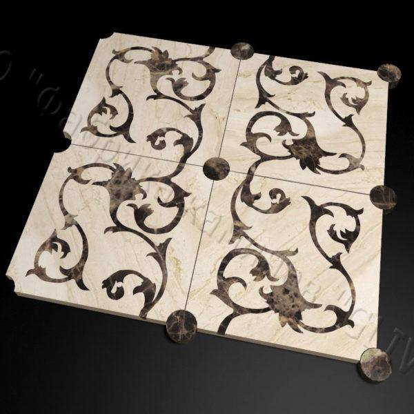 Плитка из натурального мрамора Анжу, изображение, фото 1